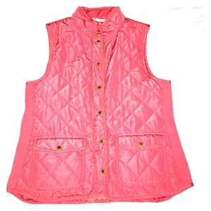 Coral quilted vest